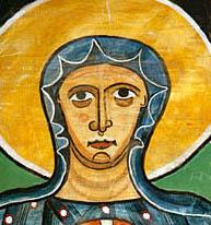Pintura románica en iglesia de Sta. María de Taüll. Valle de Boi. Lleida