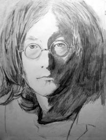 061 retrato a lapiz. john Lennon