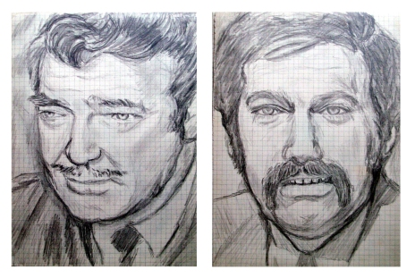 095 retrato a lapiz.Clark Gable y jose ma iñigo