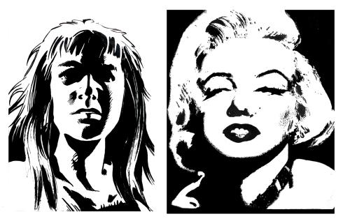 131 plumilla. Marilyn Monroe