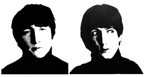 133 plumilla. John Lennon y Paul MacCartney