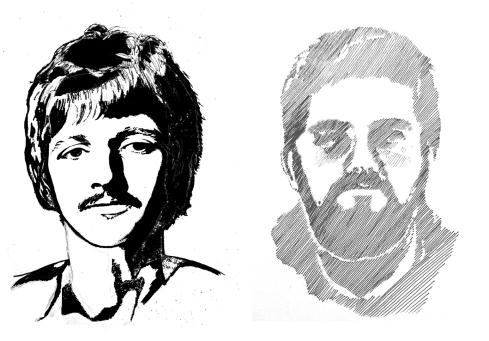 136 plumilla. Ringo Starr y autorretrato