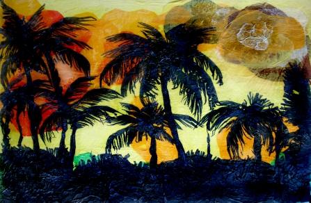 palmeras collage