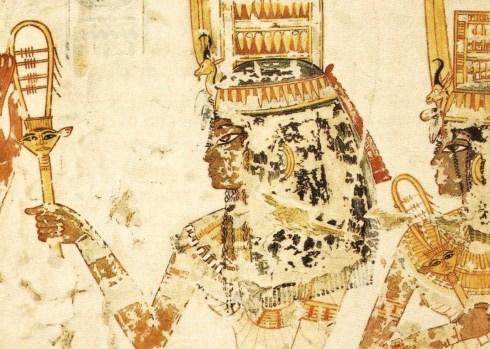 8  tumba de Menna, Tebas1395 a.c. concubinas tocan sistro