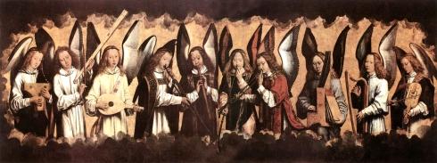 angeles musicos de memling a