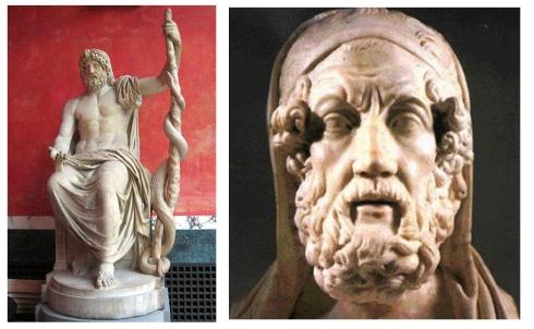 Asklepios e Hipócrates
