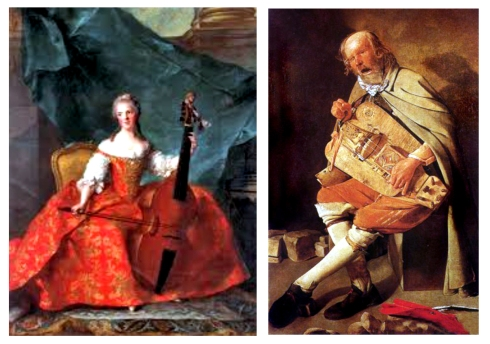 barroco marc naittier mme henriette con bioloncello -Músico del organillo Georges la Tour 1593