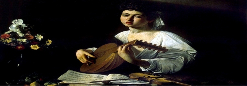cabecera Caravaggio  laud y violin