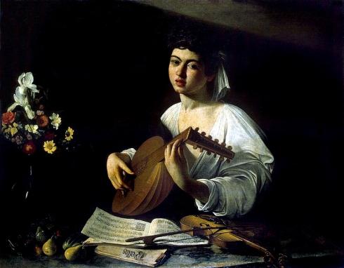 Caravaggio  laud y violin