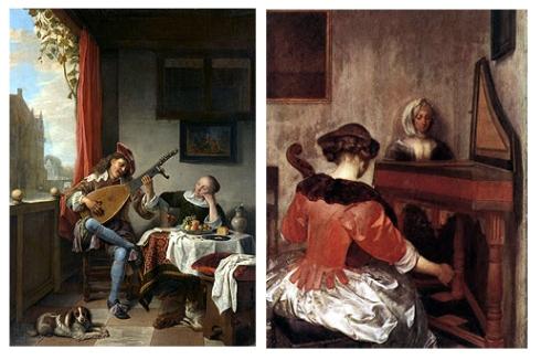 holandesa pintura - Terborch Concierto