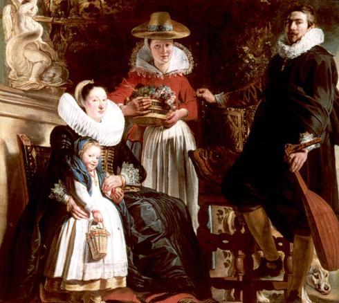 jordaens la familia del pintor