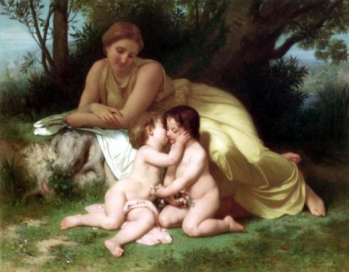 Leto junto a apolo y artemisa-1861