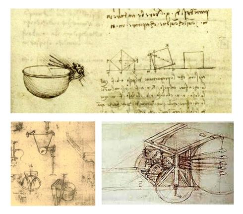 Timbal-con-sistema-mecanico leonardo- Viola y tambor mecánico de Leonardo