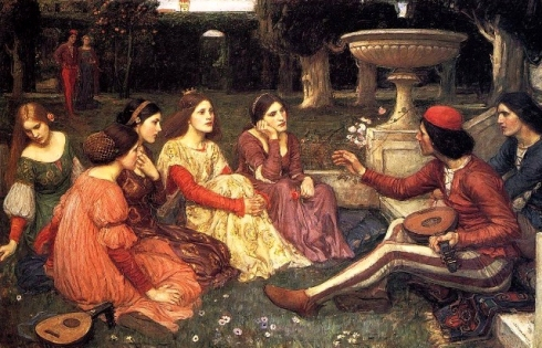 Un relato del juglares  (1916), deJohn William Waterhouse