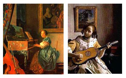 vermeer la guitarrista