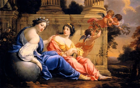 009 Simon_Vouet_-_The_Muses_Urania_and_Calliope