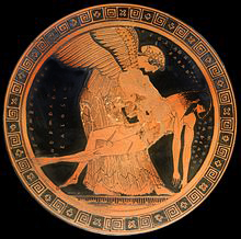 Eos_Memnon_Louvre su hijo muerto