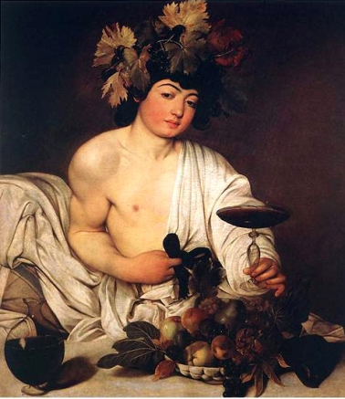016 Caravaggio. Baco. 1.598 Galeria Uffizi,Florencia
