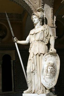 031 atenea con la gorgona escudo