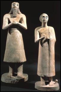 Estatuas Eshnunna sumerios