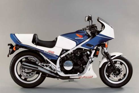 Honda VF750F Interceptor 1 chasis aluminio