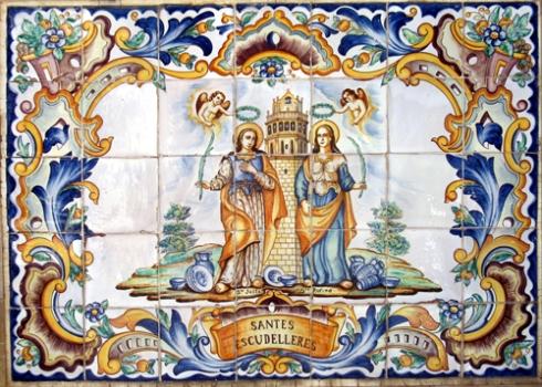Santas alfareras Justa y Rufina. Patronas de Manises. Juan Colón Buendía.