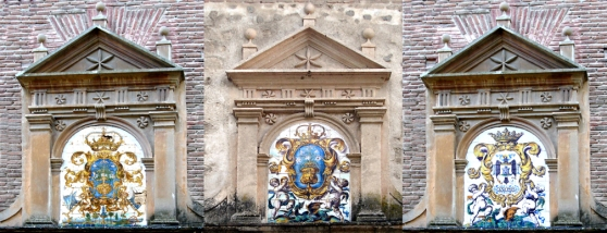 012 alegoria de la virgen S XVI y S XVII y escudo 1942