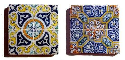 azulejos de repetición s XVII XVIII