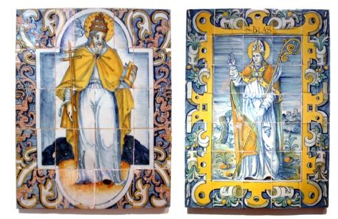 san blas y san gregorio con marco de ferroneria