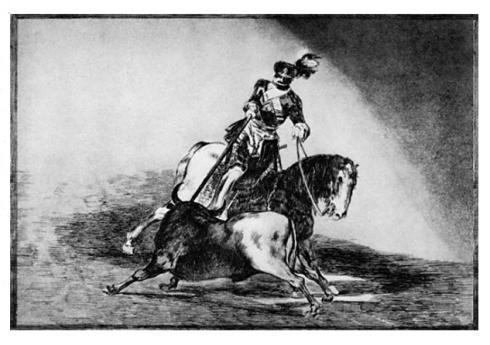 Carlos V lanceando