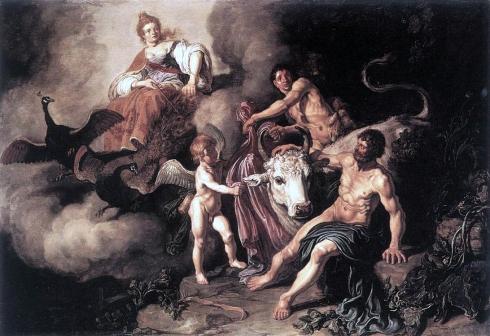 009 Juno descubriendo a Jupiter con Io, Giacomo Amigoni, 1732