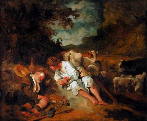 011 Mercurio y Argos, Jean-Honoré Fragonard (1755).